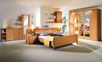 Поръчкова спалня с петкрилен гардероб и вградени в таблата нощни шкафчета  72-2618